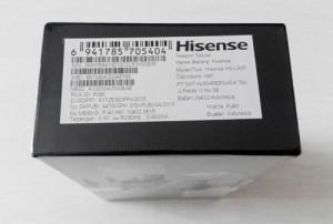 Kotak Hisense PureShot+ Tampak Atas