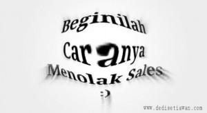 Cara menolak sales